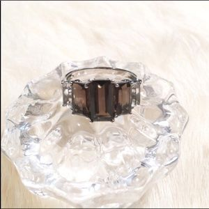Jewelry - Sterling Silver••• Smokey Quartz/Topaz Ring